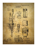 Beer Keg Tap 1903 Giclee Print by Dan Sproul