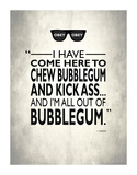 They Live Chew Bubble Gum Giclee Print by Mark Rogan