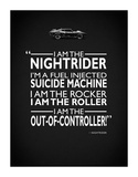 Mad Max I Am The Nightrider Giclee-trykk av Mark Rogan