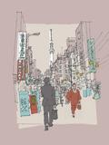 Hinterland Tokyo Giclee Print by Ken Hurd