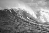 Surfer in the sea, Maui, Hawaii, USA Fotoprint