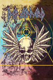 Def Leppard - Winged Skull Collage Print