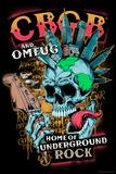 CBGB & OMFUG - Punk NYC Skull Poster