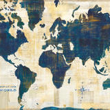 World Map Collage v2 Poster by Sue Schlabach