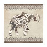 Boho Elephant I Neutral Affiches par  Wild Apple Portfolio
