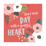 Wildflower Daydreams VII Grateful Heart Posters by Laura Marshall