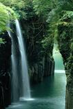 Waterfall Miyazaki Japan Fotografisk tryk af Panoramic Images,