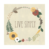 Autumn Garden Live Simply Poster by Laura Marshall