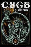 CBGB & OMFUG - Statue of Liberty Skull Affiche