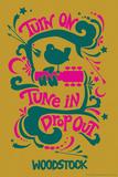 Woodstock - Turn On, Tune In, Drop Out (Yellow) Kunstdrucke