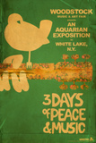 Woodstock - Collage (Teal) Poster