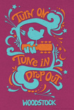Woodstock - Turn On, Tune In, Drop Out (Purple) Poster
