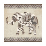 Boho Elephant II Neutral Poster par  Wild Apple Portfolio