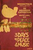 Woodstock - Collage (Pink) Poster