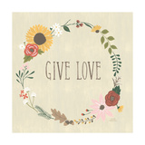 Autumn Garden Give Love Prints by Laura Marshall