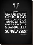 The Blues Brothers -Sunglasses Trykk på strukket lerret av Mark Rogan