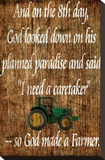 Farmer Stretched Canvas Print by Dan Sproul