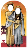 Holy Religious Sacred Family Adult Stand-in (Sunset Gold and Silver) Pappfigurer