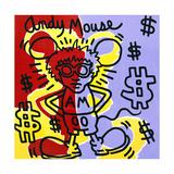 Andy Mouse 1985 Lámina giclée por Keith Haring