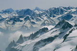 A View of the Swiss Alps from Col Du Chardonnet, Mount Blanc Region Vægplakat af Gordon Wiltsie