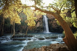 Scenic View of a Waterfall on Havasu Creek Mural por W.E. Garrett