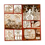 Uden titel, 1981 Giclée-tryk af Keith Haring