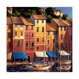 Portofino Waterfront Poster by Michael O'Toole