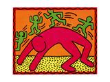 Sans titre, octobre 1982 Reproduction procédé giclée par Keith Haring