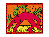 Untitled, October 7, 1982 Stampa giclée di Keith Haring