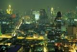 Central Bangkok Detail, Thailand Mural por Walter Bibikow