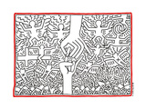 The Marriage of Heaven and Hell, 1984 Giclée-Druck von Keith Haring