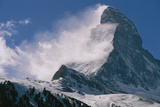 Snow Blows off of the Matterhorn Above Zermatt Wall Mural by Gordon Wiltsie