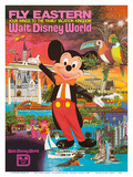 Walt Disney World - Fly Eastern Airlines - Orlando, Florida 高品質プリント :  Pacifica Island Art