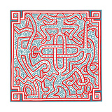 Untitled, 1989 Giclée-tryk af Keith Haring
