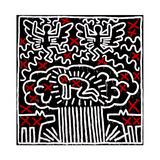 Untitled, 1983 Giclée-tryk af Keith Haring