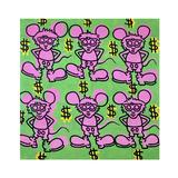 Andy Mouse 1985 Gicléedruk van Keith Haring