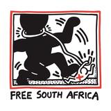 Free South Africa, 1985 Gicléedruk van Keith Haring