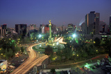 Aerial View of Mexico City at Night, Mexico Mural por Peter Adams