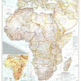 1943 Africa Map Wall Mural by  National Geographic Maps
