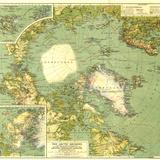 1925 Arctic Regions Map Fototapete von  National Geographic Maps