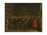 Ratification of the Peace of Münster Lámina giclée por Gerard Terborch