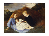 Portrait of Hungerford, Amy and Dorothea Wren Hoskyns Giclee Print by William Blake Richmond