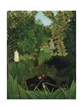 The Merry Jesters, 1906 Giclee-trykk av Henri Rousseau