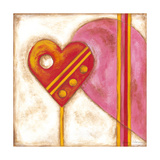 Pop Hearts II Premium Giclee Print by Nancy Slocum