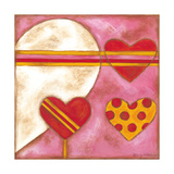 Pop Hearts I Premium Giclee Print by Nancy Slocum