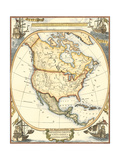 Small Nautical Map of North America Prints by  Vision Studio