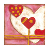 Pop Hearts IV Premium Giclee Print by Nancy Slocum