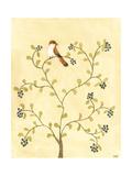 Berry Bird I Art by Virginia A. Roper