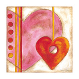 Pop Hearts III Premium Giclee Print by Nancy Slocum