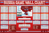 Russia Game Wallchart 2018 Pôsters